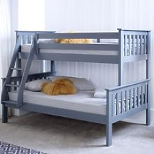 Atlantis Grey Wooden Triple Sleeper Bed Frame -