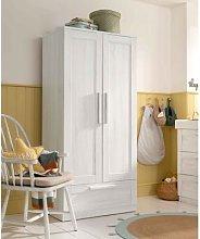 Atlas 2 Door Nursery Wardrobe with Storage Drawer