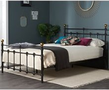 Atlas Black Metal Bed Frame - 4ft6 Double