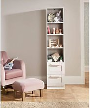 Atlas Freestanding Nursery Bookcase - Nimbus White