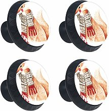 ATOMO 4pcs A Fox with A Scarf Crystal Glass 30mm