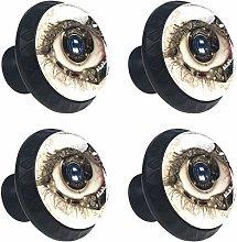 ATOMO 4pcs Punk Eye with A Clock Mechanism Crystal