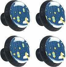 ATOMO 4pcs Starry Sky with Lanterns Crystal Glass