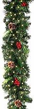 ATopoler 1.8M Pre-lit Christmas Garland Decoration