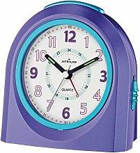 ATRIUM alarm clock analogue purple silent, with