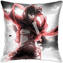 Attack on Titan Square Pillowcase Soft Plush