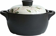 ATTDDP Ceramic Casserole Dish with Lid Stew Pots -