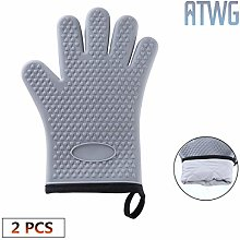 ATWG Silicone Oven Gloves - Heat Resistant Grill