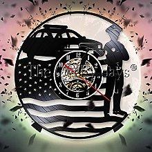 Atxbfg U.S. Police Wall Clock Police Department