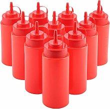 Atyhao 460ml Plastic Squeeze Bottle Condiment
