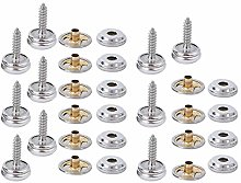 Atyhao Canvas Snaps, 10 Sets Copper Tent Fixing
