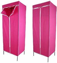 Atyhao Single Fabric Canvas Wardrobe Storage