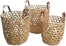AU Maison - Set of 3 Natural Basket