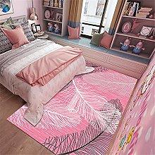 AU-OZNER cheap carpet,Pink feather pattern carpet,