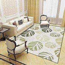 AU-OZNER large rug,Leaf pattern, olive green color