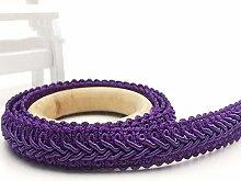 AUBERSIT 5Meter 12mm Curve Cotton Lace Trim