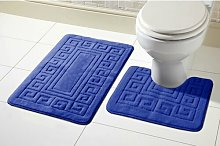 Aubrielle Bath Mat Set Zipcode Design Colour: Dark