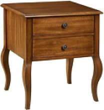 Audrey Bedside Table Cabinet Nightstand In Red