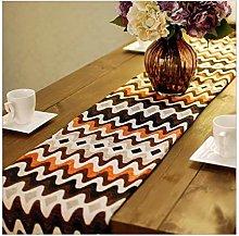 AueDsa Table Runner Decoration 33x200CM,Cotton