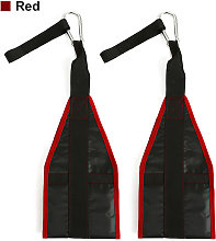 Augienb - 2pcs Gym Training Belt Equipment Red