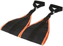 Augienb - 2pcs Gym Training Belt Orange Equipment