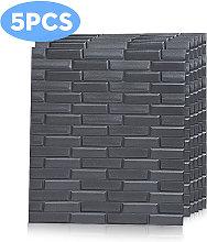 Augienb - 5pcs 8MM 70*77cm 3D Tile Brick Wall