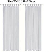 Augienb - Curtain Voile Window 140x229cm Grey