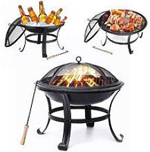 Augienb - Garden Fire Pit Patio Heater Outdoor BBQ