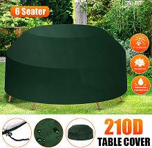 Augienb - Green Waterproof Outdoor 6 Seater Round