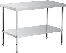 Augienb - Kitchen Work Bench 60x120x85cm Silver