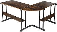 Augienb - L-Shaped Corner Desk 147*112*95cm Gaming
