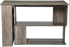 Augienb - Rotating L-Shaped Corner Desk Table