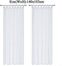 Augienb - Voile Curtain 1pc 140x183cm White
