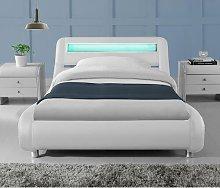 Augustus LED Lights Low Designer Upholstered Bed