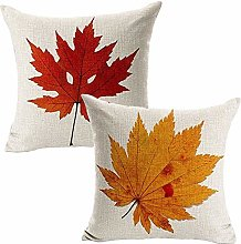 Auied 2PC Maple leaves Sofa Bed Home Decor Pillow