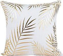 Auied Gold Foil Printing Pillow Case Sofa Waist