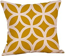 Auied Mustard Pillow Case Yellow Geometric Fall