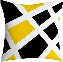 Auied Pineapple Leaf Yellow Pillow Case Sofa Car