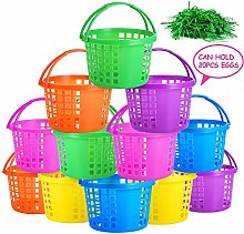 Auihiay 12 Pieces Easter Eggs Baskets with