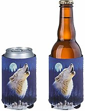 Aulaygo 2pcs Anti-Slip Slim Beer Can Cooler Tall
