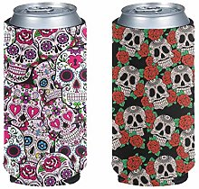 Aulaygo 2pcs Easy Carry Beer Can Cooler Standard