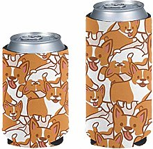 Aulaygo 2pcs Standard Can Cooler Sleeves Blank