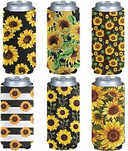 Aulaygo 6 Pack Durable Standard Beer Can Sleeves,
