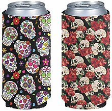 Aulaygo Standard Can Cooler 2 Pack, Skull Style