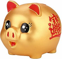 AUNMAS Golden Pig Bank Cute Money Saving Box Kids