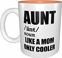 Aunt Like A Mom Only Cooler Funny Mugs Orange One