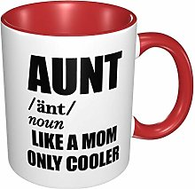 Aunt Like A Mom Only Cooler Funny Mugs Red One