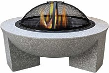 Auoeer Large Retro Fire Pit, gray Cast Iron