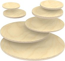 AUPROTEC Plywood Sheet 18mm Wooden Board Round Ø