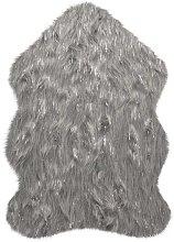 Aura Faux Fur Glacier Grey 60 x 90cm